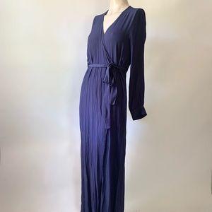 Vivi Navy Blue Maxi Wrap Dress
